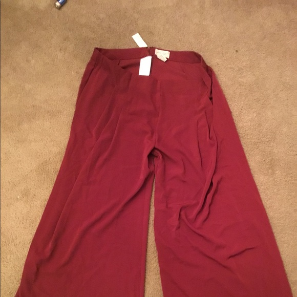 0e9252f79e0 Plus size Burgundy Pants. NWT. Madrag